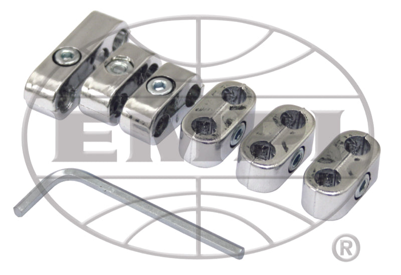 CHROME SPARK PLUG WIRE SEPARATORS