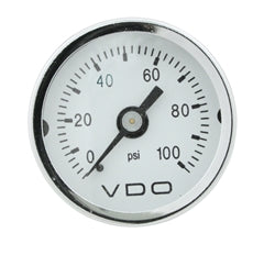 "VDO Mini Series Mechanical 0-15 PSI Gauge, 1.5"", 1/8""-27NPT"