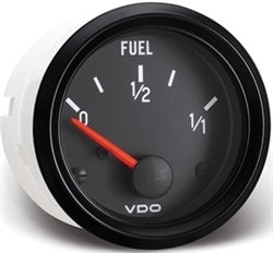 BLACK COCKPIT SERIES GAUGES - FUEL GAUGE, 10-180 OHMS, REQUIRES SENDING UNIT P/N: V226001