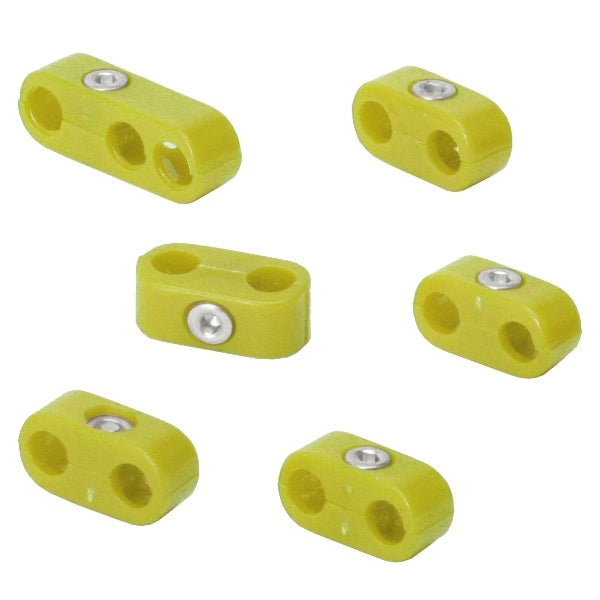 YELLOW SPARK PLUG WIRE SEPARATORS