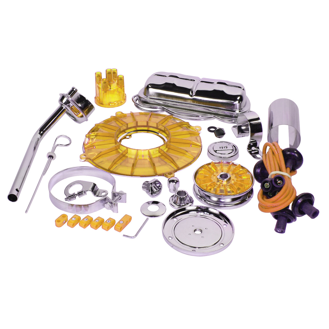 YELLOW DELUXE ENGINE TRIM KIT