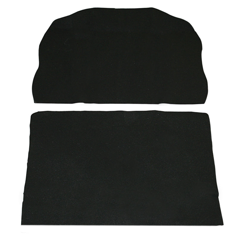 BLACK 2 PIECE TRUNK CARPET KIT VW SUPER BEETLE 1971-1972