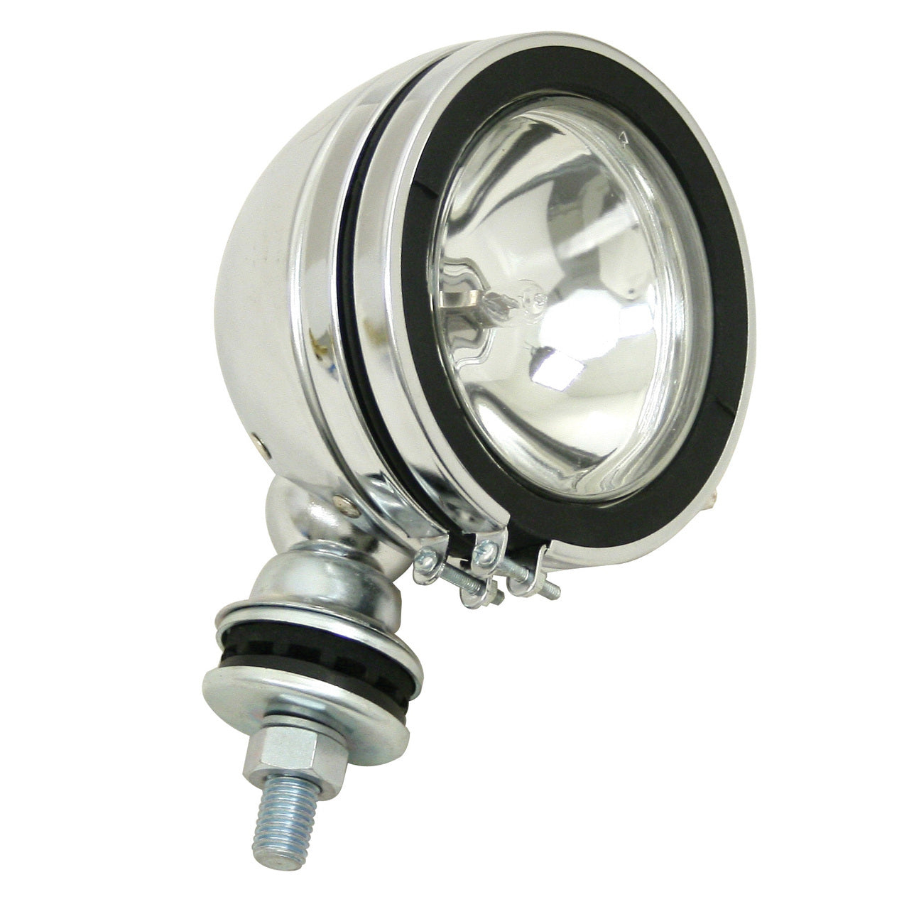 "CHROME 6"" ROUND OFF-ROAD LIGHT WITH MOUNTING POST - H3 100W"