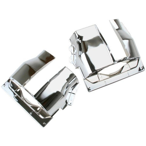 CHROME DUAL PORT CYLINDER SHROUDS/COVERS VW BUG, PAIR