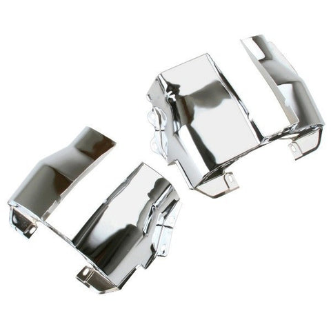 OFF-ROAD TRIMMED CHROME DUAL PORT CYLINDER SHROUDS/COVERS VW BUG,PR