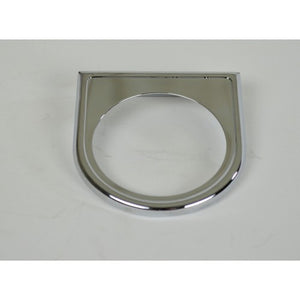 1 Hole Gauge Panel, Chrome For 2-1/16    14-1014-0