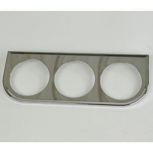 3 Hole Gauge Panel, Chrome For 2-1/16