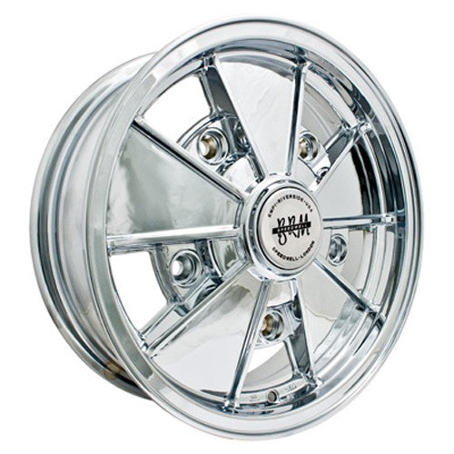 "Brm Wheel, All Chrome, 5"" Wide, 5 on 205mm VW"