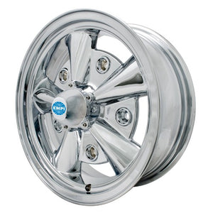 "5 Rib Wheel, All Chrome, 5.5"" Wide, Fits 5 on 205mm VW"