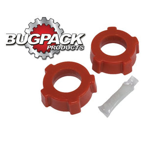 Spring Plate Bushings, 1-3/4in I.D., Knobby, Urethane, Red, Bugpack