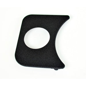 1 Hole Gauge Panel, Black For 3-1/8