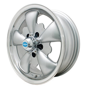 "Gt-5 Wheel, Silver With Polished Lip, 5.5"" Wide, 5 on 112mm"