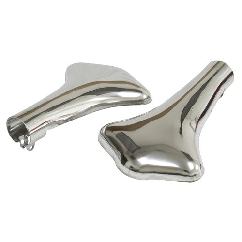 Vintage Exhaust Tips, Stainless, For Stock Mufflers, Pair