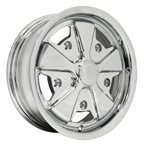 "911 Alloy Wheel, All Chrome, 6"" Wide, 5 on 130mm"