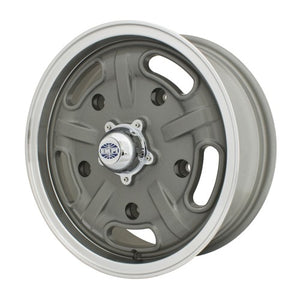 "Corsa Wheel, Grey With Polished Lip, 5.5"" Wide, 5 on 205mm"