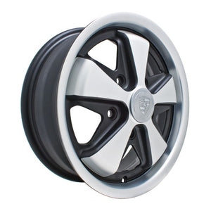 "911 Alloy Wheel, Matte & Silver, 4.5"" Wide, 5 on 130mm"