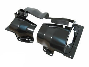 BLACK DUAL PORT CYLINDER SHROUDS/COVERS VW BUG, PAIR