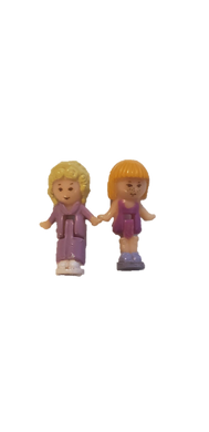 1991 Polly Pocket 2 Figures From Pullout Playhouse