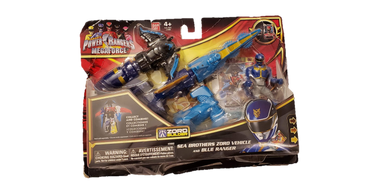 2012 Power Rangers MegaForce Sea Brothers Zord Vehicle And Blue Ranger - Kal-Electibles