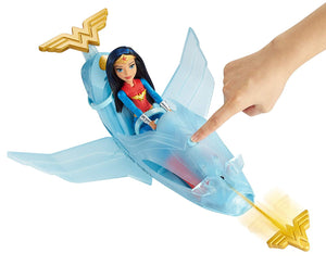 DC Super Hero Girls Wonder Woman Doll & Invisible Jet - Kal-Electibles