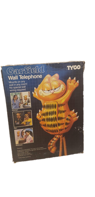 1986 Tyco Garfield Wall Hanging Telephone with Box