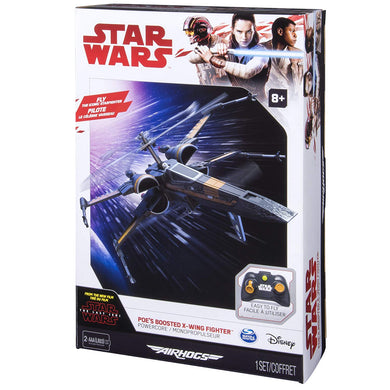 Air Hogs Poe's Boosted X-Wing Fighter, Single Rotor Star Wars