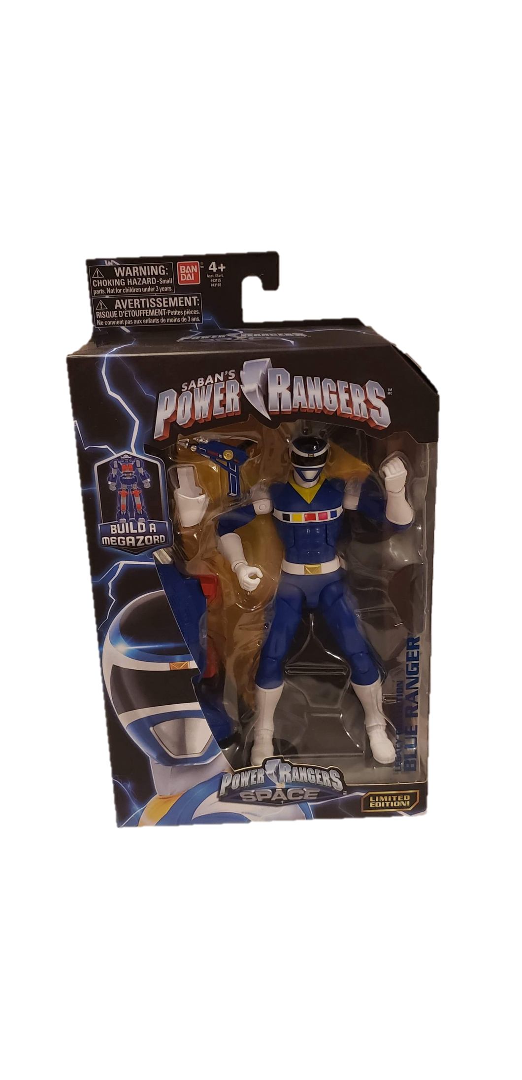 Power Rangers In Space Legacy Blue Ranger Figure - Kal-Electibles