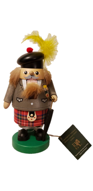 Erzgebirgische Volkskunst Chubby Scottish Nutcracker w/ Umbrella 8