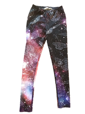 Loot Wear Exclusive Star Trek Galaxy Womens Leggings Large