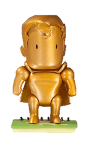 Scribblenauts Unmasked Gold Superman Mystery Chase Figure 1/24