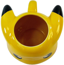 Load image into Gallery viewer, 16 OZ Pokemon Pikachu Face Molded Ceramic Coffee Mug