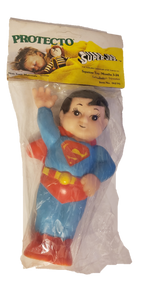 Superman Super Juniors Jr's Protecto Squeeze Toy 1978 Sealed Unpunched