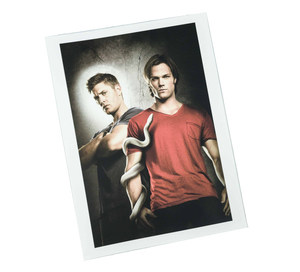 Culturefly Supernatural Box Exclusive Sam And Dean Portrait Print