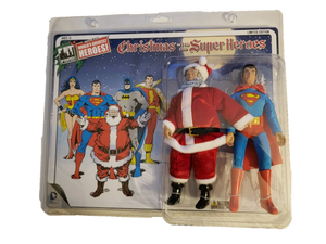 "DC Comics Limited Edition Superman and Santa Claus Two-Pack 8"" Mego Style"