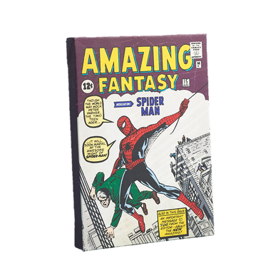 Geek Fuel EXP Exclusive Amazing Fantasy 1st App Of Spiderman Canvas Art