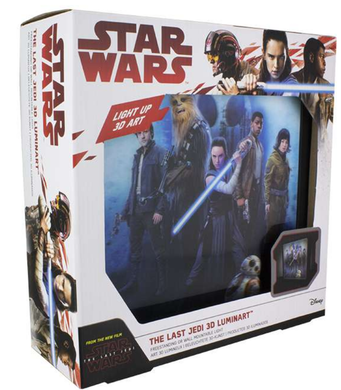 Star Wars The Last Jedi 3D Luminart Light Up Lenticular Picture