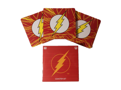 DC Comics World's Finest Collection Exclusive The Flash Coaster Set