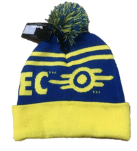 Load image into Gallery viewer, Bioworld Bethesda Fallout 76 Vault-Tec Pom Beanie - Kal-Electibles