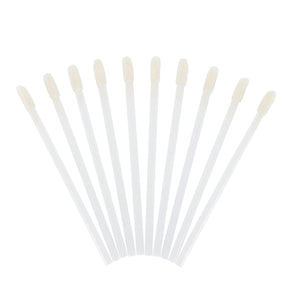 yuki LINT FREE - FLOCKED APPLICATORS White Lint Free Brushes (50 wands)