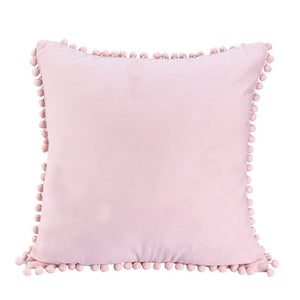 Uarter Square Throw Pillow Case 100% Washed Cotton Cushion Case