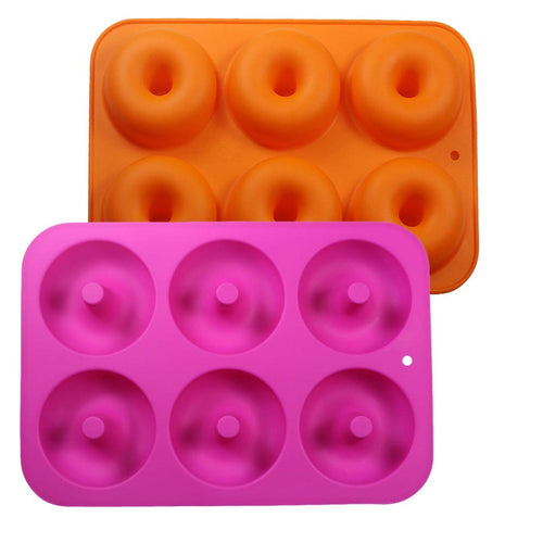 Uarter Silicone Donut Molds, Non-Stick Food-Safe Silicone