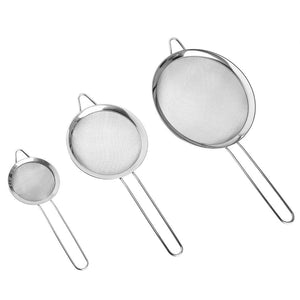Uarter Set of 3 Stainless Steel Strainer