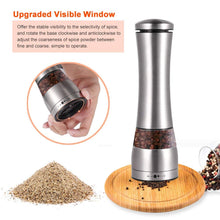 Load image into Gallery viewer, Uarter Electric Pepper Grinder and Salt Mill Set