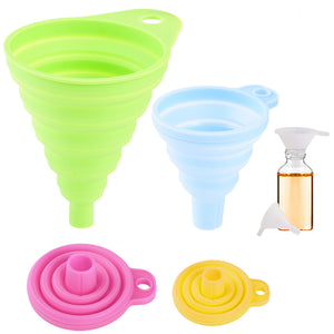 uarter collapsible funnel set of 6 flexible silicone foldable kitchen funnel - Kitchen Funnel