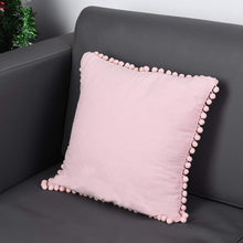 Load image into Gallery viewer, Uarter Square Throw Pillow Case 100% Washed Cotton Cushion Case