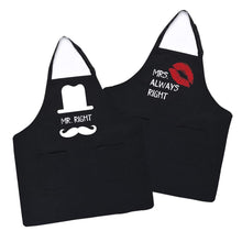 Load image into Gallery viewer, Uarter Pair Apron Cotton Kitchen Aprons Adjustable Pair Couples Apron with 2 Pockets Set