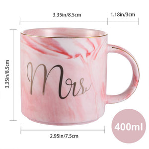Uarter Ceramic Coffee Cups Mr Mrs Coffee Mugs