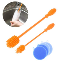 Load image into Gallery viewer, Uarter Bottle Teat Brush Silicone Baby Bottle Brush BPA-Free