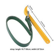 Load image into Gallery viewer, Uarter Strap Wrench, Adjustable Rubber Strap Wrench / Filter Opener wrench for Opening Filter, Pipe and Tin, Yellow and Green