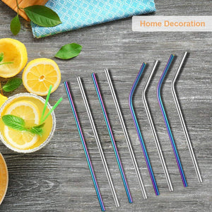 "Uarter 8.5"" Long Reusable Replacement Metal Straws"